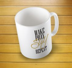 Wake Pray Slay Repeat Women's Summer Mug