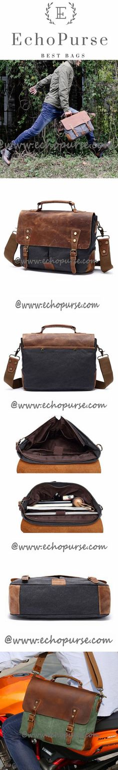 Travel Bag Laptop Christmas Gifts 56 New Ideas Canvas Messenger Bag, Messenger Bag Men, Canvas Leather, Cow Leather, Canvas Travel Bag, Best Gifts For Men, Everyday Bag, Best Christmas Gifts, Fashion Bags