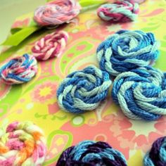 Whimsical Yarn Rosettes