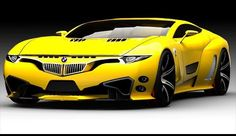 Looks like BMW are auditioning for the Transformers... yellow car