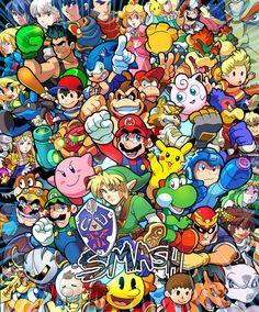 Nintendo Games Anime Home Decor Wall Scroll Pokemon The Legend of Zelda Super Smash Bros, Super Mario Bros, Video Game Art, Video Games, Deco Gamer, Interaction Design, Nintendo Games, Nintendo Characters, Super Nintendo