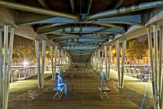 Light painting by Christopher Hibbert made in Paris, near the library Francois Mitterand.