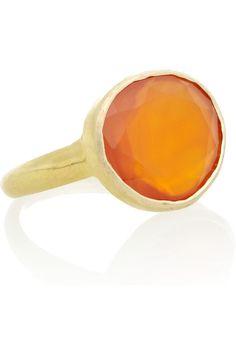 Pippa Small|18-karat gold carnelian ring|NET-A-PORTER.COM