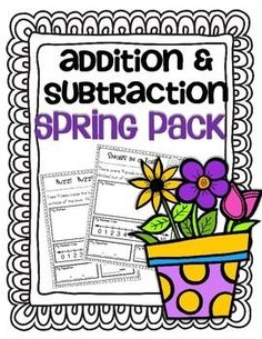 Addition and Subtraction word problems that align with the Common Core State Standards (CCSS) K.OA.1 and K.OA.2After many requests to make additional story/word problem printables I have!  I have included the number line for both addition and subtraction.