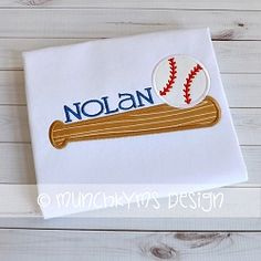 Baseball Bat and Ball Applique - 3 Sizes!   What's New   Machine Embroidery Designs   SWAKembroidery.com Munchkyms Design