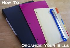 How to organize your bills in a binder