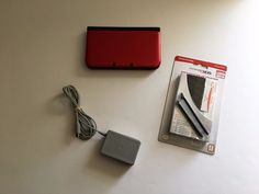 Nintendo 3DS XL Red & Black Handheld Video Game Console (Model# SPR-001) Used #Nintendo