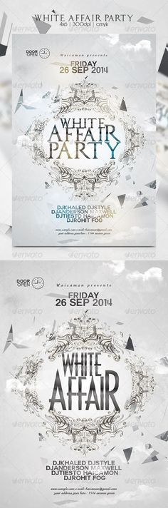 White Affair Party Flyer Template PSD   Buy and Download: http://graphicriver.net/item/white-affair-party-flyer/8712714?WT.ac=category_thumb&WT.z_author=haicamon&ref=ksioks