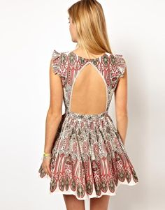 Image 1 ofPepe Jeans Printed Open Back Dress