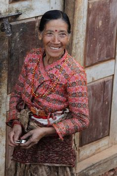 A woman from Nepali village. What a charming smile!