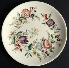 Vintage Johnson Brothers Hampshire hand-decorated luncheon or breakfast plate. Multicolor florals on cream. China Glaze Neon, China Glaze Nail Polish, Neon Nail Polish, Nail Polish Colors, China Glaze Flip Flop Fantasy, Breakfast Plate, Johnson Brothers, Salad Plates, Tableware