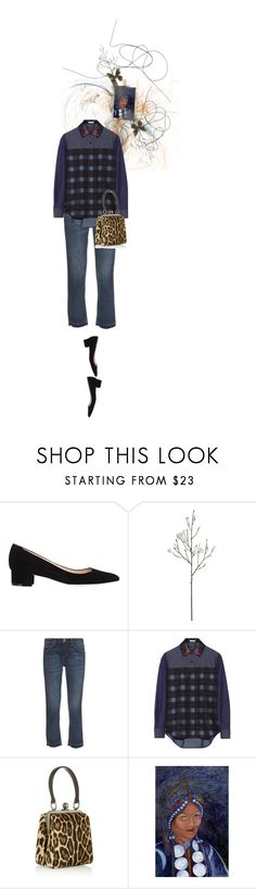 """Untitled #1367"" by maja-z-94 ❤ liked on Polyvore featuring Manolo Blahnik, Crate and Barrel, Current/Elliott, Preen, Dolce&Gabbana and NOVICA"