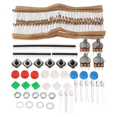 New Arrival High Quality 1Set Electronic Parts Pack Kit Component Resistors LED Switch Potentiometer Button Cap HM For arduino #Affiliate