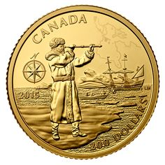 Fourth coin in our popular Great Canadian Explorers series! Rare Gold Coins, Gold And Silver Coins, Canadian Coins, Gold Everything, Commemorative Coins, World Coins, Us Coins, Coin Collecting, Postage Stamps