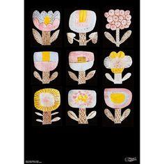 鹿児島睦さんの図案から生まれた、アートディレクターの前田景さん制作によるポスター。鹿児島さんの器を持っている人はもっと好きになれる、持ってない人も鹿児島さんの魅力に気づくことができる図案たちです。