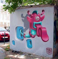 Streetart graffitt by SER in Thessaloniki, Greece, 2015 (LP). www.thesstips.wordpress.com Street Mural, Thessaloniki, Urban Art, Murals, Lp, Counting, Art Drawings, Greece, Wordpress