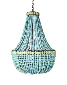 I will always love this Skouras turquoise chandelier. Make a Turquoise Beaded Chandelier