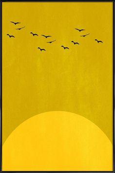 Sonnentanz als Poster in kunststof lijst door Kubistika | JUNIQE