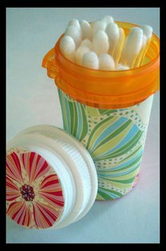 Re-use idea: pill bottles- we have more of these than I care to,  if we have to have them I should put them to use!