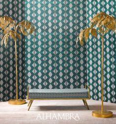 Colectia noua ALHAMBRA#ferotidecor Geometric Fabric, Geometric Designs, Sweet Home, Colours, Inspiration, Collection, Gatsby, Home Decor, Stoves