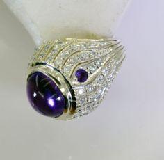 #Amethyst Gems 92 5 Silver Fashion #Ring #Jewellery Sz 7 SRAME7 0262 | eBay