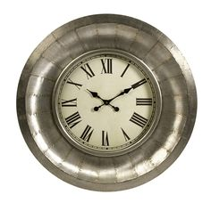 "33"" Stunning Mesick Aluminum Clock"