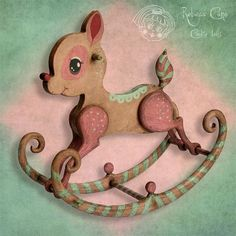 New rocking horse ~ BAMBI ~ Special Edition by Rebeca Cano ~ Cookie dolls, https://www.facebook.com/CookieDolls  for sale