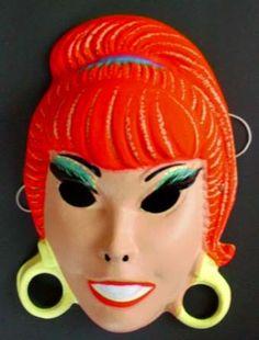 Halloween Masks from 1960's KuKla Ollie Sea Hag by AncientArt, $20.00
