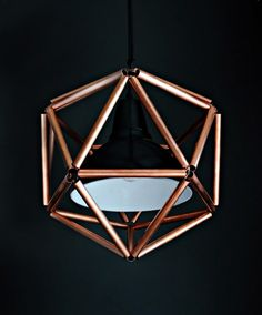 #DIY Copper Pipe Icosahedron Light Fixture