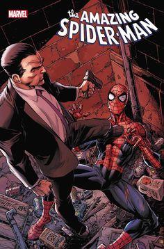 The Amazing Spider-Man vol 5 #68 | Cover art by Mark Bagley, John Dell & Brian Reber Marvel Comic Books, Marvel Comics, Marvel Art, Spider Man 2018, Dragon Comic, Mark Bagley, Hobgoblin, Amazing Spiderman, Comic Covers