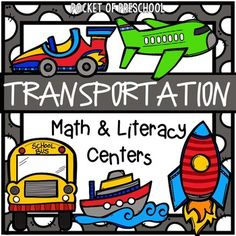 Transportation Math and Literacy Centers are loaded with fun, hands on transportation themed activities to help your students build math and literacy concepts! Literacy skills covered are letter identification, beginning sounds, building vocabulary words, syllables, rhyming, letter sorting, pre-writing, and writing/journaling.