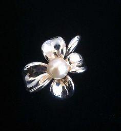 Ann King Sterling Silver Orchid Pearl Flower Pendant - http://designerjewelrygalleria.com/ann-king/ann-king-sterling-silver-orchid-pearl-flower-pendant-2/