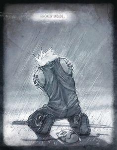 Broken inside, sad, text, quote, Hatake Kakashi, Anbu; Naruto