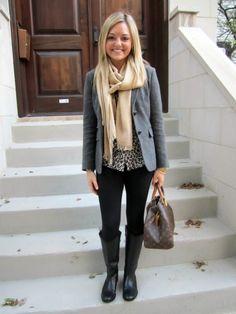 Black Jeans, Leopard, Grey Blazer