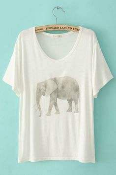 Elephant love. THAT'S IT. I want an elephant shirt ;)
