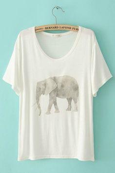 Elephant love. THAT'S IT. I want an elephant shirt ;)