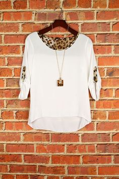These boutique blouses have to be my favorite blouse this season so far! the little touch of leopard on the back and sleeves are purrrfect! Get the necklace that is paired with this for only $10.99 under accessories   These blouses are junior sizes, runs smaller  100%POLYESTER  MADE IN USA #musiccityprettyboutique
