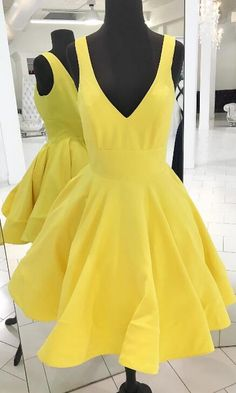 short yellow dresses, 2017 dresses, party dress dancing dress