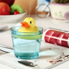 Not sure how well it would work, but it sure is cute! > #RubberDuck USB #Humidifier | #WidgetLove.com | #office