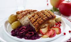 Slik får du ribbe med sprø svor (steg for steg) l EXTRA Fat Foods, Holiday Recipes, Scandinavian, Waffles, Food And Drink, Beef, Dinner, Cooking, Breakfast
