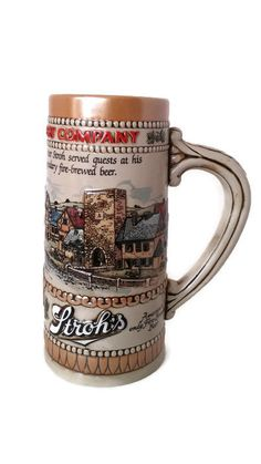 Stroh's Collectible Beer Stein by SamsOldiesButGoodies on Etsy