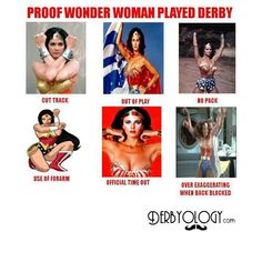 Proof Wonder Woman played Roller Derby