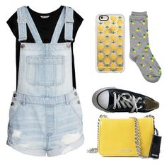 """""""Untitled #15"""" by sardine04 on Polyvore featuring Bobeau, Miu Miu, Casetify, Ananas and Converse"""