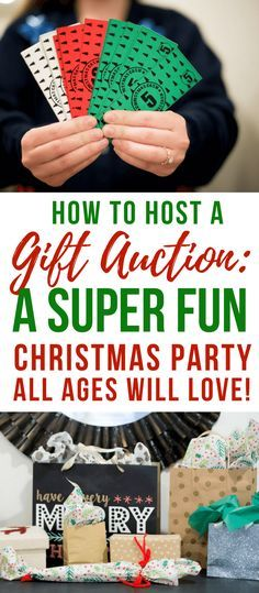 How to Do A Christmas Party Gift Auction-White Elephant Party Game! - How to Do A Christmas Party Gift Auction-White Elephant Party Game! Christmas Gift Exchange Games, Xmas Games, Holiday Games, Christmas Party Activities, Office Christmas Party Games, Gift Games For Christmas, Company Christmas Party Ideas, Office Christmas Gifts, Office Party Games