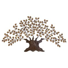 Tree-inspired wall decor crafted from a copper alloy.  Product: Wall decorConstruction Material: Copper alloy