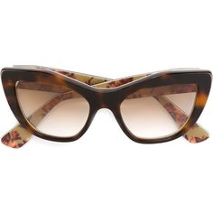 8a52574731ea Miu Miu tortoise cat eye sunglasses (€265) ❤ liked on Polyvore featuring  accessories