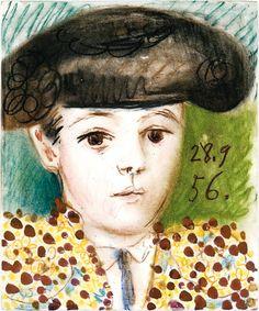 Pablo Picasso - Claude Picasso à dix ans en costume de toréador, 1956
