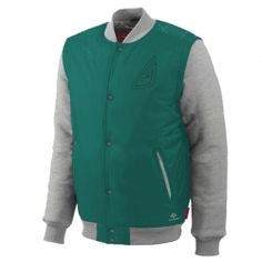 Green and Gray Varsity #Jacket
