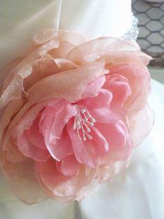 organza rose, $32, from etsy seller linenwood