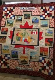 this might be a pretty cool layout for a t-shirt quilt. Image result for canada 150 quilts